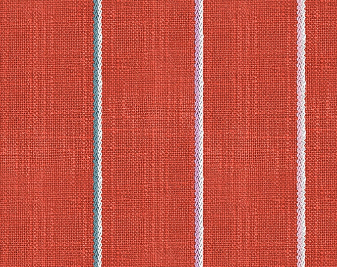 Linework Heavyweight in Persimmon from the Warp & Weft Heirloom Wovens Collection by Alexia Marcelle Abegg for Ruby Star Society