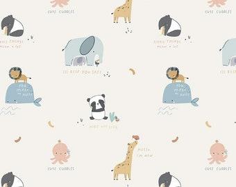 Cute Cuddles in Cream for Riley Blake Designs