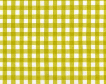 Small Gingham in PICKLE from Kitchen Window Wovens by Elizabeth Hartman for Robert Kaufman