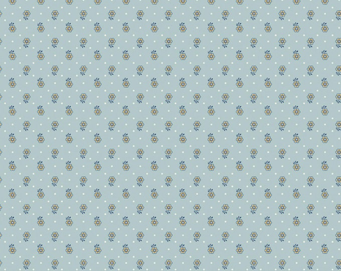 Kingly Sprig in Teal from the Emporium Collection by Liberty Fabrics for Riley Blake Designs