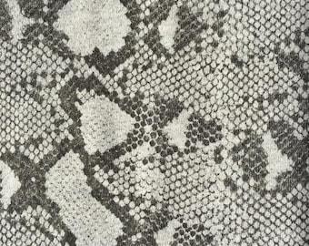 Cotton Fleece Snakeskin Knit