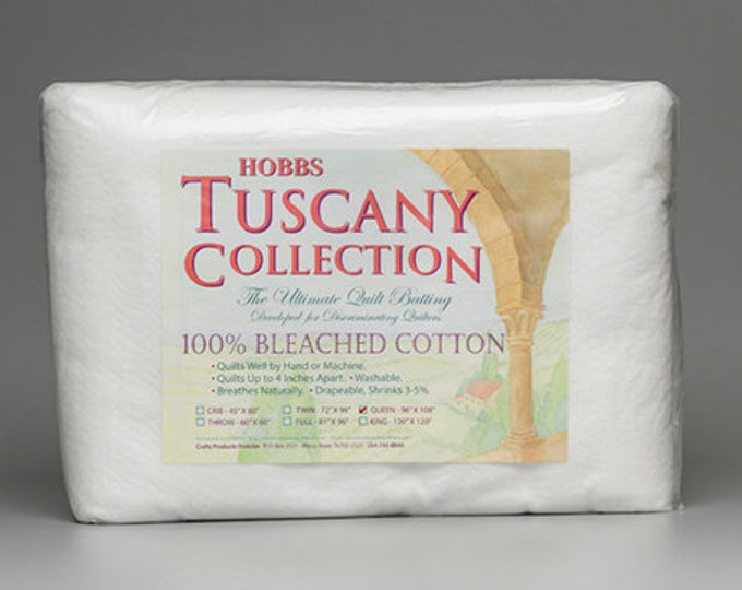 HOBBS Tuscany Collection 100% Bleached COTTON Batting