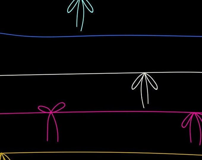 Ruby Star, Tie A Ribbon in Midnight RAYON by Moda