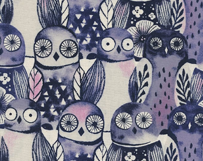 PRESALE: Wise Owls (night) from Eclipse by Sarah Watts for Cotton + Steel