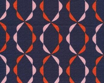 Twist of Fate in Orange- Holding Pattern by Jessica Jones - Cloud 9 Bark Cloth Cloud9