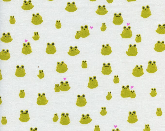 PRESALE: Frogs (in green) from Front Yard Collection by Sarah Watts for Cotton + Steel