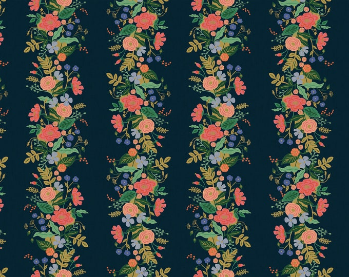 PRESALE: Garden Vines (navy CANVAS) from English Garden by Rifle Paper Co.