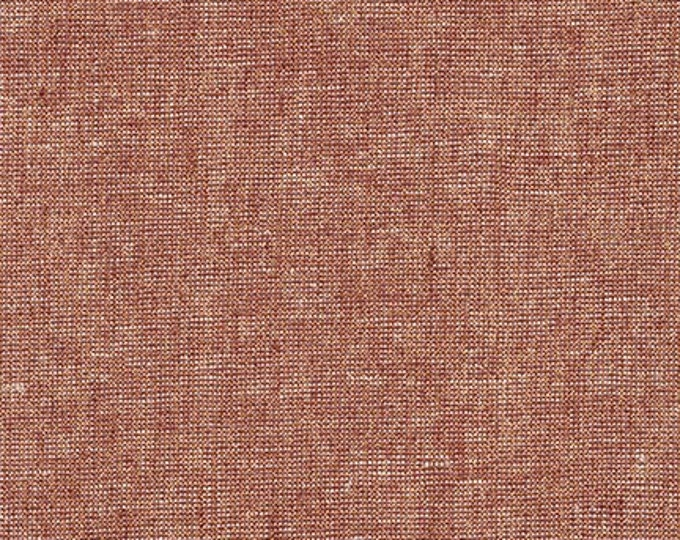 Robert Kaufman Yarn Dyed Essex Metallic - Copper - Cotton Fabric