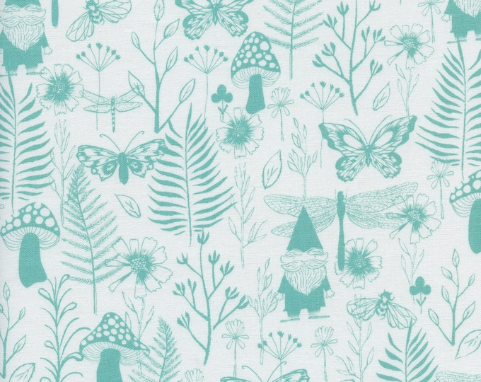 PRESALE: Garden (in teal) from Front Yard Collection by Sarah Watts for Cotton + Steel