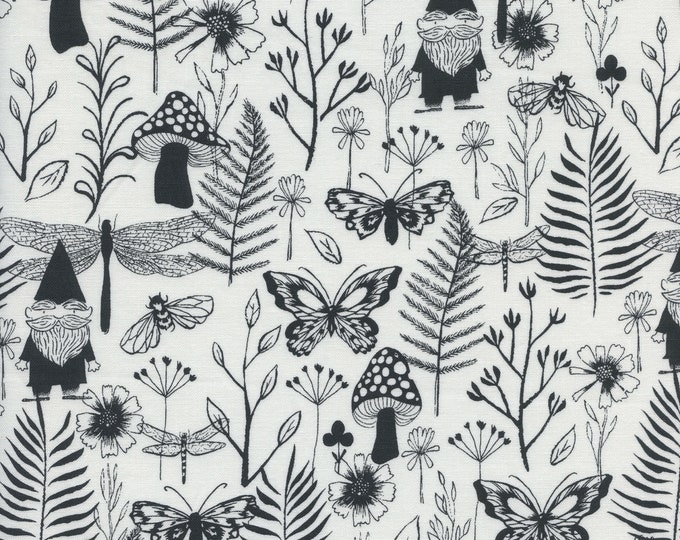 PRESALE: Garden (in black) from Front Yard Collection by Sarah Watts for Cotton + Steel