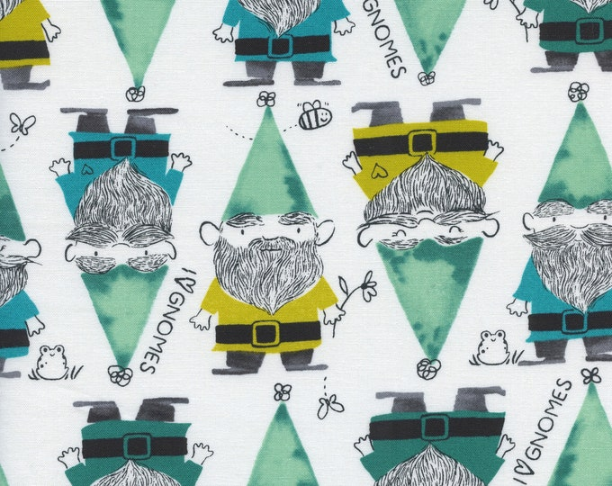 PRESALE: Gnomes (in green) from Front Yard Collection by Sarah Watts for Cotton + Steel