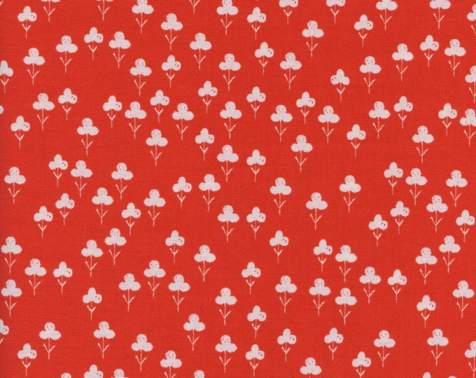 PRESALE: Clovers (in red) from Front Yard Collection by Sarah Watts for Cotton + Steel