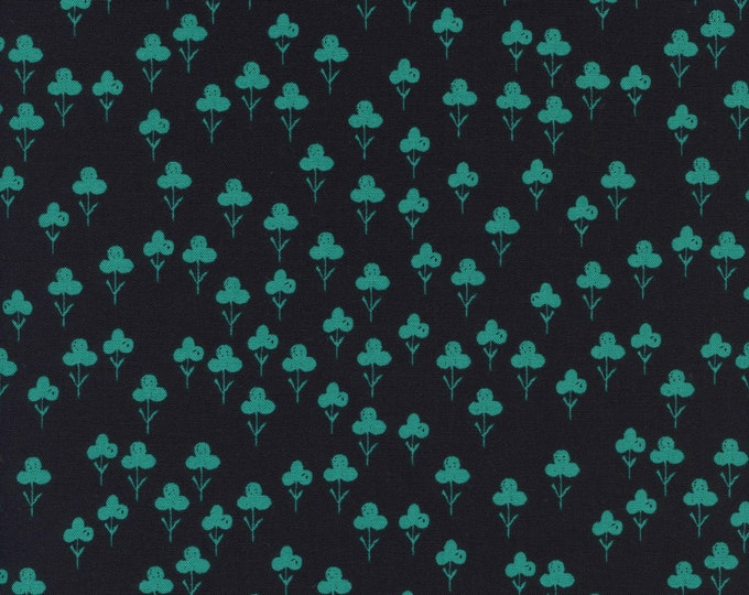 PRESALE: Clovers (in teal) from Front Yard Collection by Sarah Watts for Cotton + Steel