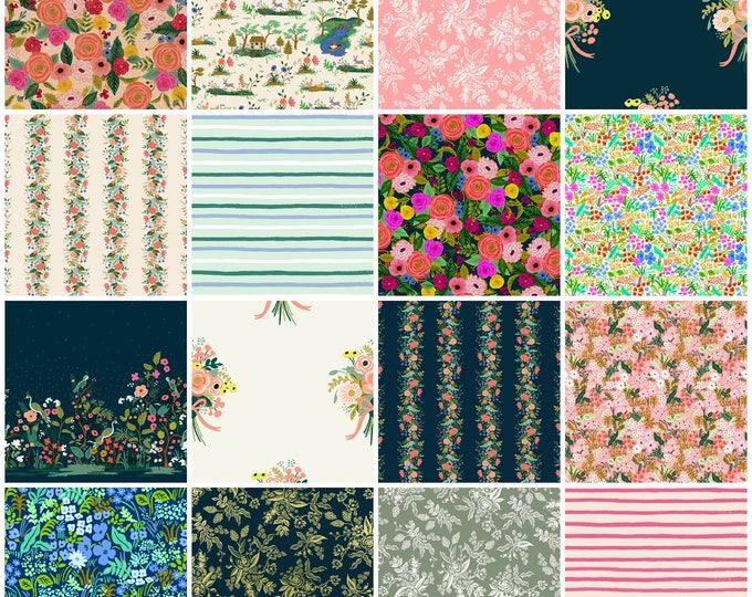 PRESALE: Rifle Paper Co. English Garden Fat Quarter Pack