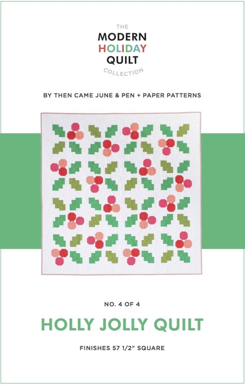 Holly Jolly Quilt Paper Pattern By Then Came June image 0