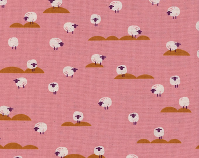 Sheep (coral) from Panorama Sunrise by Melody Miller and Sarah Watts for Cotton + Steel