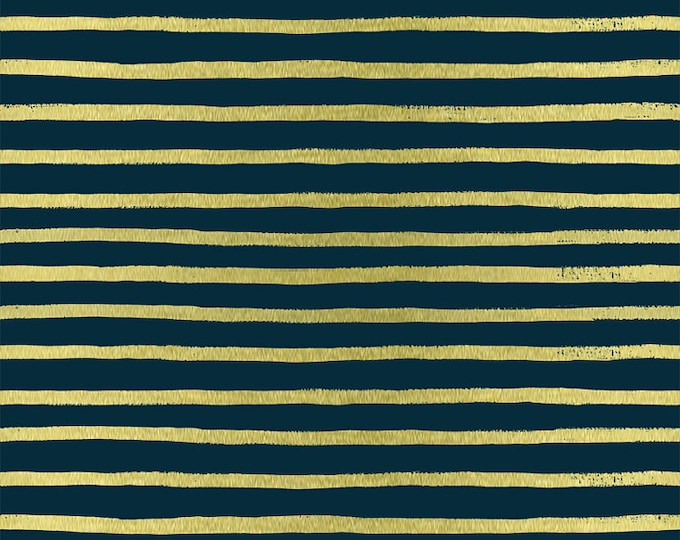 PRESALE: Stripes (navy METALLIC) from English Garden by Rifle Paper Co.