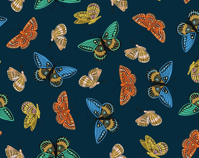 PRESALE: Monarch (navy METALLIC LAWN) from English Garden by Rifle Paper Co.