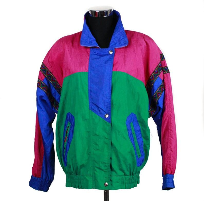5001b797a6e Vintage 80s 90s Parachute Jacket 80s fashion 90s fashion