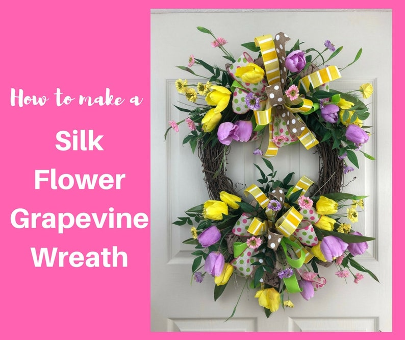How To Make Spring Grapevine Wreaths Video Spring Wreaths For Etsy