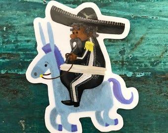 Mariachi Donkey Sticker