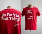 Vintage Coca Cola Tshirt Vintage Coke Tshirt Vintage Soft Drink Tee Vintage 1980s Coke Tshirt Vintage 80s Double Sided Coke Tshirt