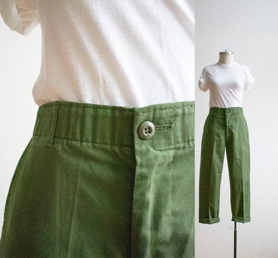 Vintage Olive Drab Military Slacks / Vintage Milit