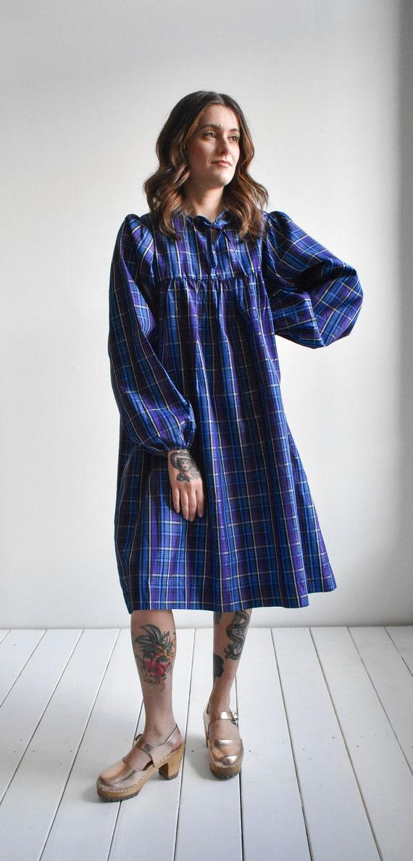 Vintage Plaid Smock Dress - image 2
