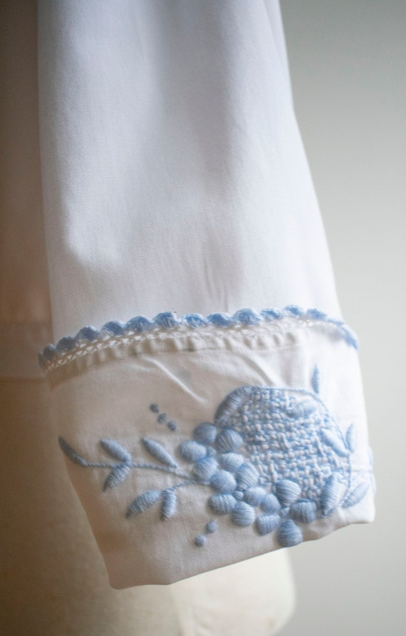 Vintage Edwardian Blouse / White Cotton Embroider… - image 6