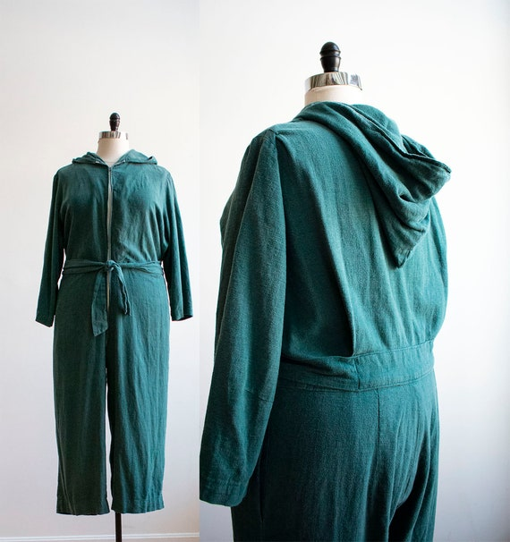 Vintage 1940s Coveralls / Vintage Hooded Coveralls