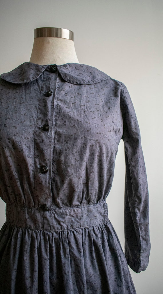 Vintage 1930s 1940s Farm Dress / Cotton Farm Dres… - image 4
