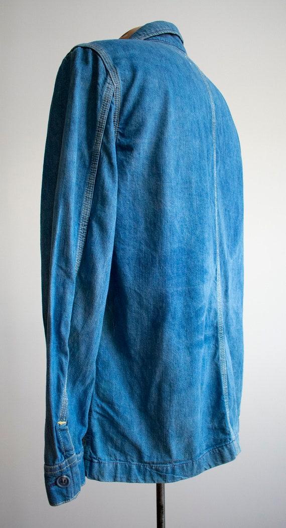 Vintage 1970s Lee Denim Shirt / Denim Lee Jacket … - image 5