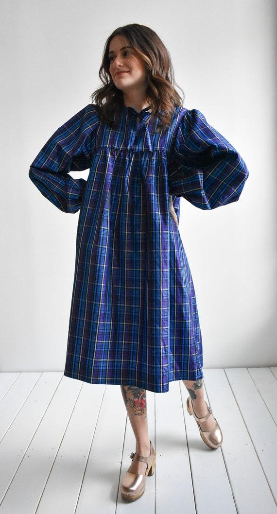 Vintage Plaid Smock Dress - image 4