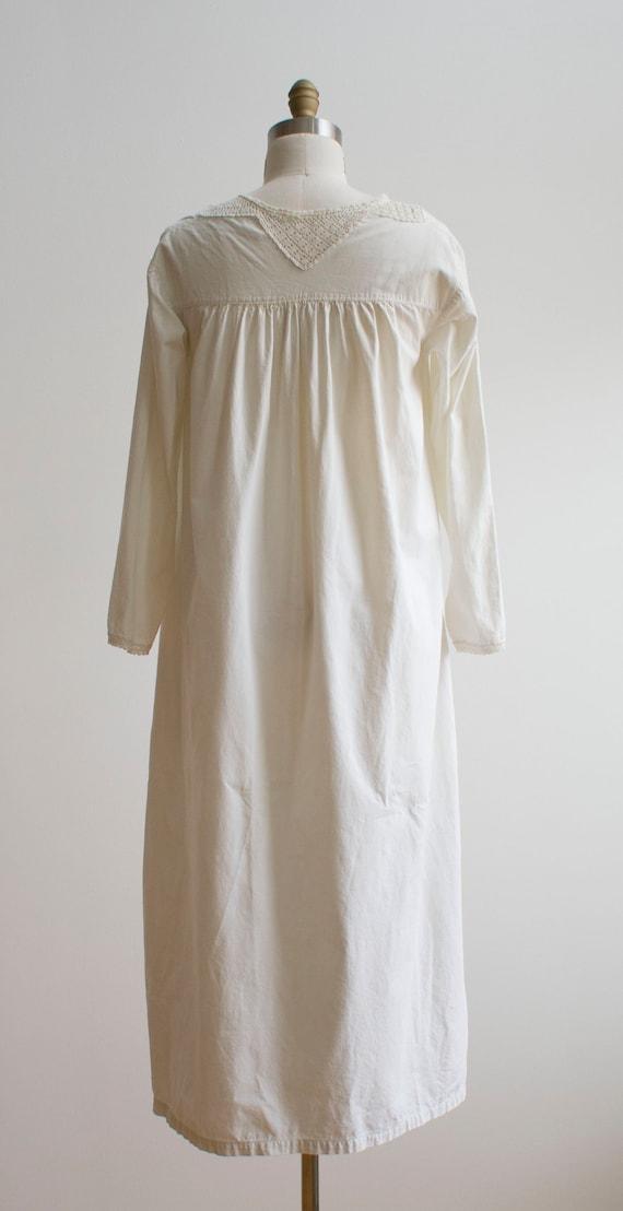 Vintage Edwardian Nightgown / White Cotton Nightg… - image 8