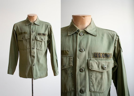 Early 1960s US Army Shirt / Vintage Army Field Jac