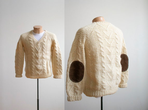 Vintage Cable Knit Sweater / Vintage Fisherman Swe