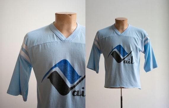 Vintage 1970s Athletic Tshirt / Vintage Football T