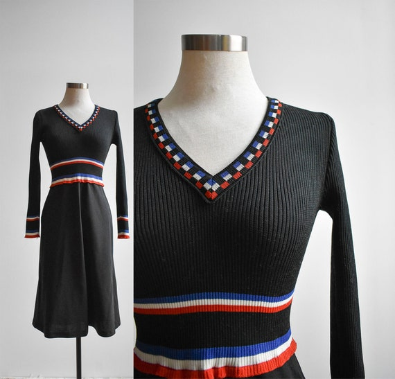 Black 1970s Cocktail Dress