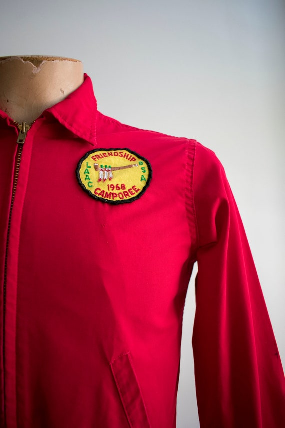 1950s Boy Scouts of America Jacket / Red Boy Scou… - image 5