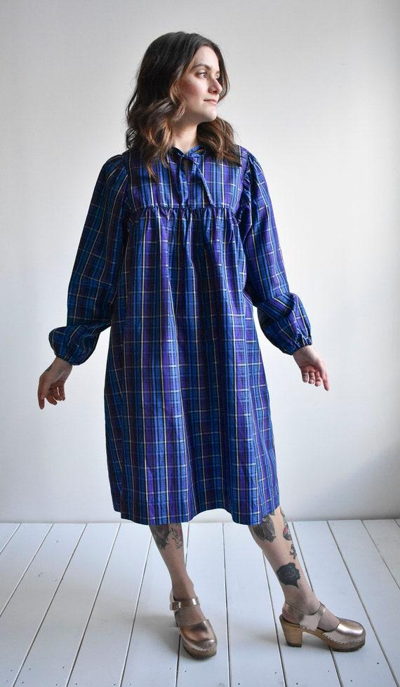 Vintage Plaid Smock Dress - image 6