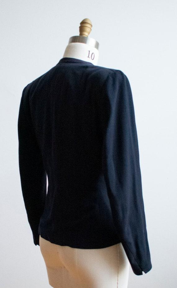 Vintage 1940s Suit Jacket / Navy Blue Womens Jack… - image 9