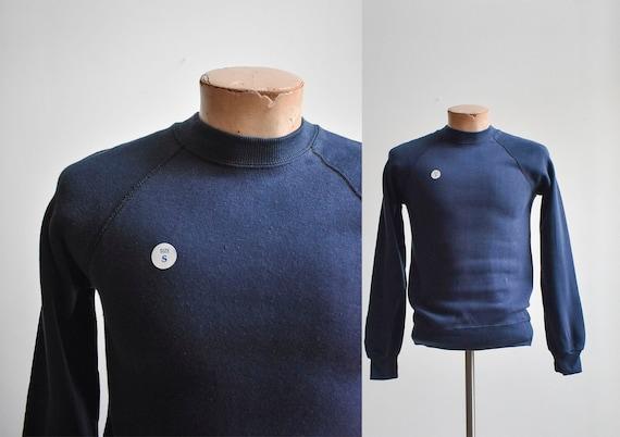 Vintage Navy Blue Raglan Sweatshirt