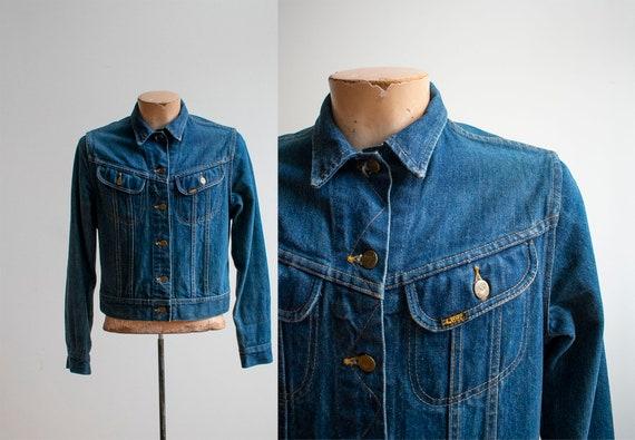 1960s 1970s Denim Jacket / Vintage Lee Denim Jacke