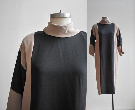 Vintage Minimalist Vertical Striped Dress