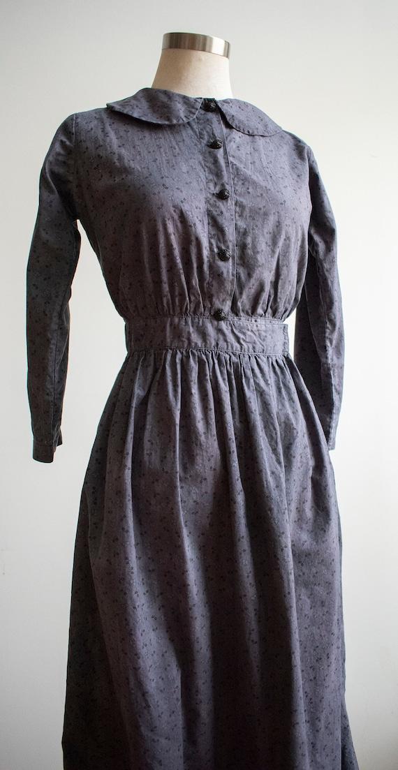 Vintage 1930s 1940s Farm Dress / Cotton Farm Dres… - image 6