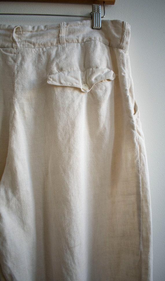 Antique White Linen Knickers / True Vintage Britc… - image 10