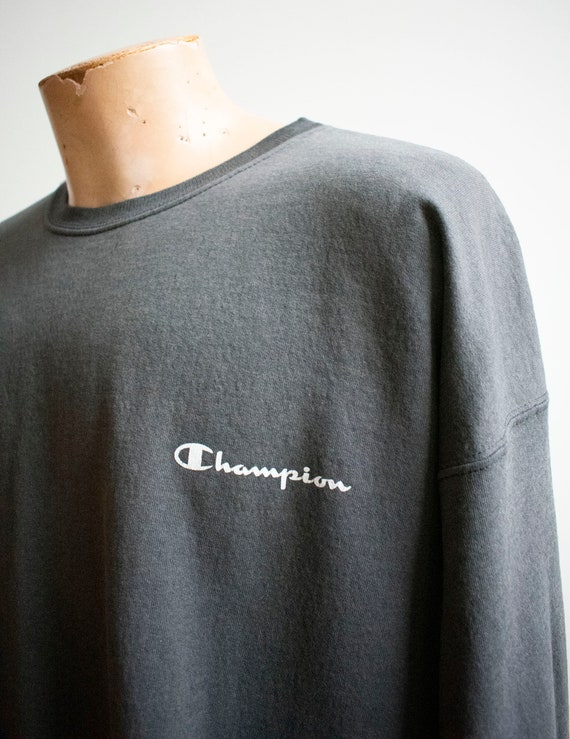 Vintage 1980s Champion Pullover / Vintage Crewnec… - image 3