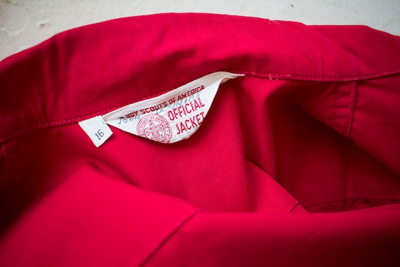 1950s Boy Scouts of America Jacket / Red Boy Scou… - image 10