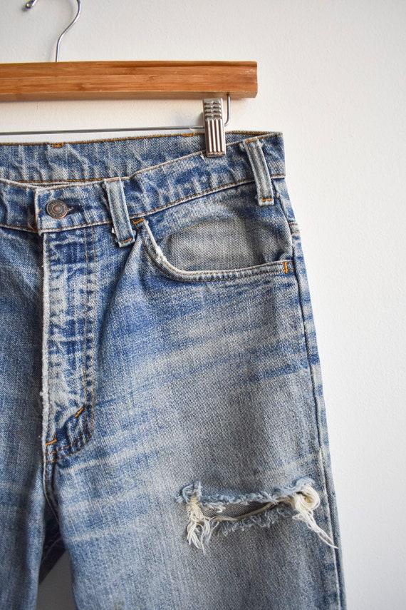 Vintage Levis Orange Tab Big E Bell Bottom Jeans - image 5