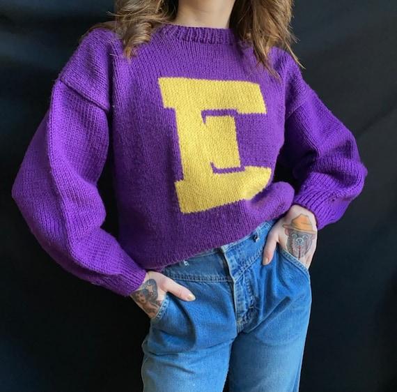 1960s Purple Cheer Sweater